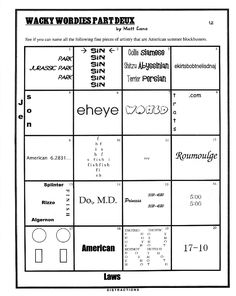 Worksheets Wacky Wordies Worksheets who am i image search and activities on pinterest more
