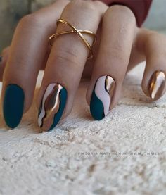 Chic Nails, Classy Nails, Fancy Nails, Stylish Nails, Simple Nails, Trendy Nails, Faux Ongles Gel, Pretty Nail Art, Nail Art Blue