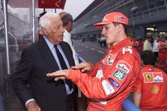 Gianni Agnelli e Michael Schumacher Michael Schumacher, Mick Schumacher, Grand Prix F1, Gianni Agnelli, Ferrari F1, F1 Drivers, Keep Fighting, Car And Driver, Formula One