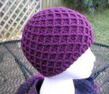 Diamond Ridges by Kristy Ashmore - Free crochet hat pattern Crochet Adult Hat, Crochet Kids Hats, Crochet Cap, Crochet Beanie, Crochet Scarves, Crochet Crafts, Crochet Projects, Free Crochet, Double Crochet