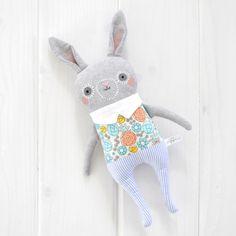 anya...handcrafted bunny softie...