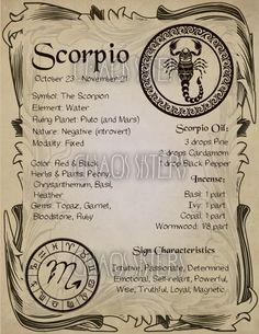 Scorpio Zodiac Sign Book of Shadow Printable PDF page Wicca image 1 Scorpio Zodiac Facts, Scorpio Horoscope, Astrology Zodiac, Scorpio Traits, Horoscope Tattoos, Scorpio Compatibility, Scorpio Girl, Scorpio Moon, Scorpio Zodiac Tattoos