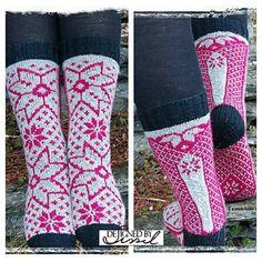 Granholt sokkene har et selbu inspirert mønster. Men med en vri. #granholtsokker
