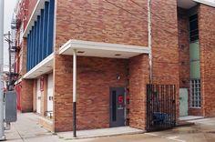 Side facade. Engine Co. No. 5. by Garriott and Becker, Modernist style, Cincinnati, Ohio.