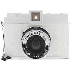Lomography Diana F + Edelweiss Edition Medium Format 120 Manual Focus Camera with Built-in Lens (White)