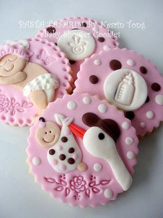 BABY SHOWER COOKIES #timelesstreasure.theaspenshops.com/product/baby-shower-cookies-for-a-girl.html