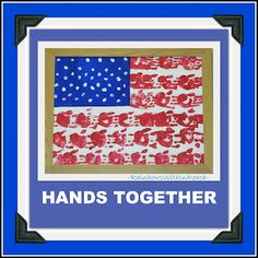 Handprint and Footprint Arts & Crafts: Handprint American Flags & Eagles {Patriotic crafts Round Up}