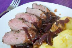 Ganz einfache Küche: Wildschweinrücken mit Rotwein-Soße