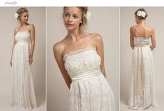 I love this relaxed gown  ...Found on Weddingbee.com Share your inspiration today!