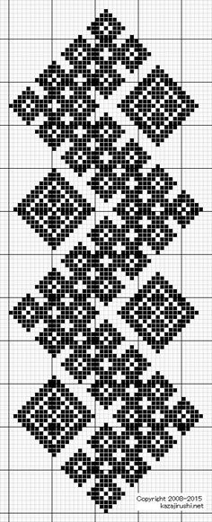 kogin sashi free pattern http: Cross Stitch Bookmarks, Cross Stitch Borders, Cross Stitch Designs, Cross Stitching, Cross Stitch Embroidery, Cross Stitch Patterns, Filet Crochet, Crochet Chart, Crochet Borders