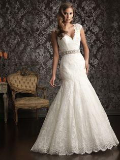 V-Neck Lace Wedding Dress   ... /Mermaid V-neck Lace Satin Floor-length White Beading Wedding Dresses
