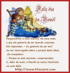 Feliz Dia da Avó - E a origem do deste dia Você sabe?