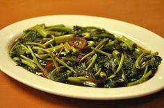 Filipino Foods Recipes: Adobong Kangkong (River Spinach)