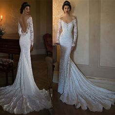 New Lace White Ivory Wedding Dress Bridal Gown Custom Size 6 8 10 12 14 16 18 | eBay