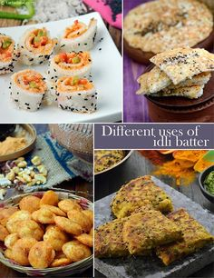 Very fond of those recipes. idli batter always at home.so ready to make dishes anytime Indian Desserts, Indian Snacks, Indian Dishes, Indian Food Recipes, Indian Foods, Breakfast Snacks, Breakfast Items, Breakfast Recipes, Kid Snacks