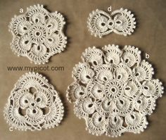 MyPicot | Free crochet patterns  Instructions on how to do these motifs and join them for a skirt