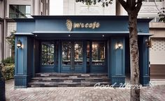 In's Cafe by Ris Interior Design - Architekt. Café Exterior, Design Exterior, Facade Design, Front Door Design, Entrance Design, Window Design, Pharmacy Design, Bar Design Awards, Clinic Design