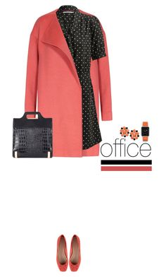 Office outfit: Black - Coral by downtownblues on Polyvore