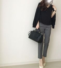 How to rock the casual chic look Office Fashion, Business Fashion, Work Fashion, Fashion Pants, Fashion Outfits, Womens Fashion, Casual Work Outfits, Professional Outfits, Office Outfits