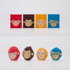 Coolest eraser ever. Create hair styles as you erase. Rubber Barber designed by Chen Lu Wei. Cool Erasers, Making Mistakes, Paper Goods, Gifts For Kids, Stationery, Geek Stuff, Fancy, Crafty, Cool Stuff