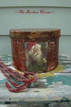 Red Christmas Santa Pantry Box.