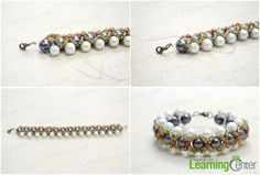 How to complete the woven pearl bracelet