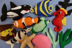 felt sea creature fishing game