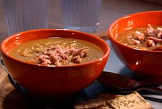 Split Pea Soup with Ham Hocks recipe from Dave Lieberman via Food Network