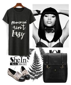 """""""Shein 8"""" by amra-f ❤ liked on Polyvore featuring Nicki Minaj, black, 1d, 5sos and shein"""