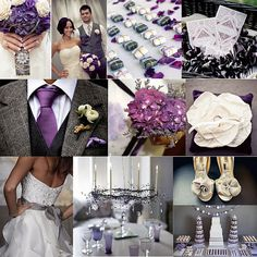 Eggplant & Charcoal wedding theme - but maybe lavender and dove grey for spring?