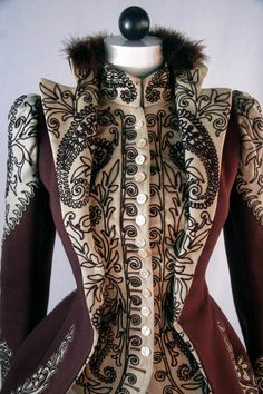 """Victorian""Board - Wine and Ivory Jacket 1890s WOW"