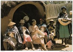 Lesotho Africa Afrique - Thaba Knitting At Ha - Tricot - Handicraft - Animated - Unused - 2 Scans