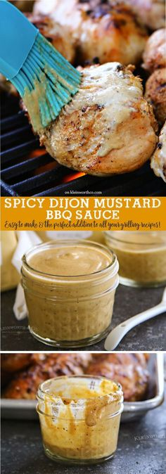 Spicy Dijon Mustard BBQ Sauce ~ a great addition to all your summer grilling recipes...brush it on chicken, burgers, or hot dogs!