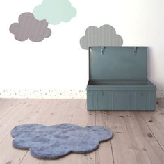 Alfombra Lavable Nube Gris Oscuro