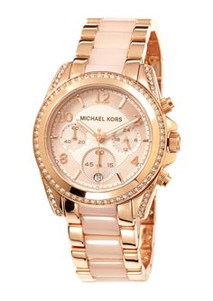 MICHAEL KORS Two Tone Ladies Blair Crystal Bezel Watch Michael Kors Sale, Michael Kors Watch, Jewelry 2014, Designer Collection, Gold Watch, Watches, Crystals, Accessories, Clocks