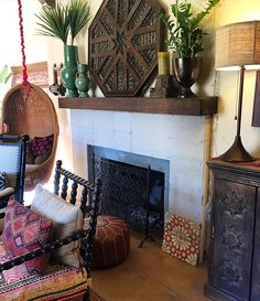 spanish moroccan adobe fireplace - Google Search | Fireplace for ...