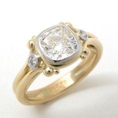 Caleb Meyer Cushion Cut Diamond Ring #2374