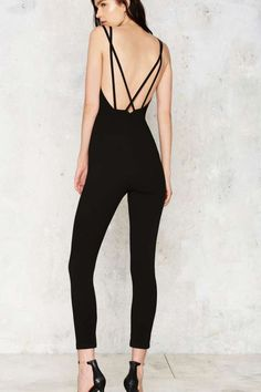 Deep Meaning Plunging Jumpsuit - Rompers + Jumpsuits | Best Sellers | All Party
