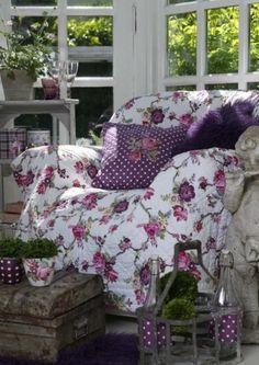 Purple, floral, comfort