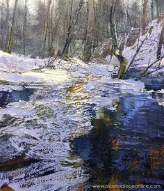 The largest online art gallery featuring fine art, decorative art, antiques, crafts and fine jewelry from hundreds of international galleries and thousands of artists. Painting Snow, Winter Painting, Abstract Landscape, Landscape Paintings, Virginia Occidental, Drawing Interior, Painting Gallery, Famous Art, 2d Art