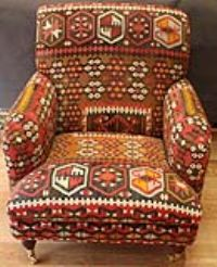 Antique Kilim Chairs | Turkish Kilim Chair | Kilim Covered Chairs