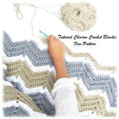 10 Free Ripple Crochet Afghan Patterns: Textured Chevron Crochet Blanket Pattern