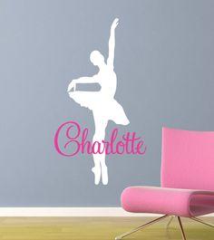 Ballerina Dancer Wall Decal Vinyl Dancer Wall by JaneyMacWalls