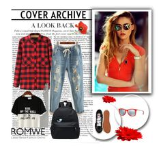 """""""Romwe 2"""" by zerina-okanovic ❤ liked on Polyvore featuring Piaget, Ray-Ban, Vans, WithChic and romwe"""