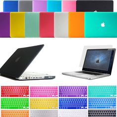 Laptop Matt Hard Case Cover+Keyboard Skin For Mac Book Pro 13. 3  / 13  A1278