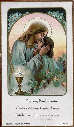 Vintage Holy Cards, Bless The Child, Bride Of Christ, Prayers For Healing, Heart Of Jesus, Jesus Pictures, Prayer Cards, Blessed Mother, Religious Art