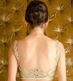 Top 14 Designer Latest Saree Blouse Back Neck Designs Blouse Back Neck Designs, Blouse Designs Silk, Choli Designs, Blouse Patterns, Fashion Weeks, Indian Dresses, Indian Outfits, Indian Clothes, Indian Saris