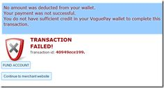 Transaction Failed Fund Accounting, Error Page, Fails, Success, Make Mistakes