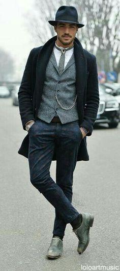 Fashion inspirations for men rich vic стиль джентльмена, сти Fashion Moda, Look Fashion, Men Hipster Fashion, Fashion For Men, Italian Mens Fashion, Hipster Outfits Men, Fashion Hats, Sharp Dressed Man, Well Dressed Men