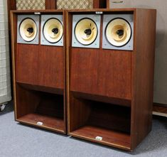 """lowther acousta speakers.  Might not look like much to some.  Technically, this is a """"one way"""" speaker system.  The four drivers alone cost more than many complete systems out there.  These things are extremely efficient. A very small amp can do the job.  Lowther's also benefit from the fact that they are a full range (well..., mostly) speaker that needs no crossover at all."""